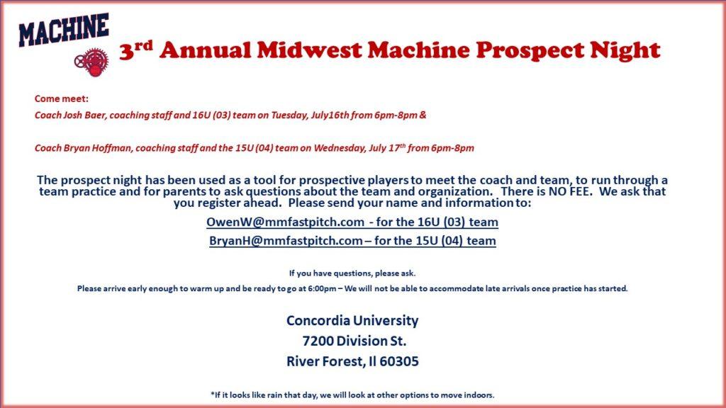Midwest Machine Fastpitch – Travel Softball